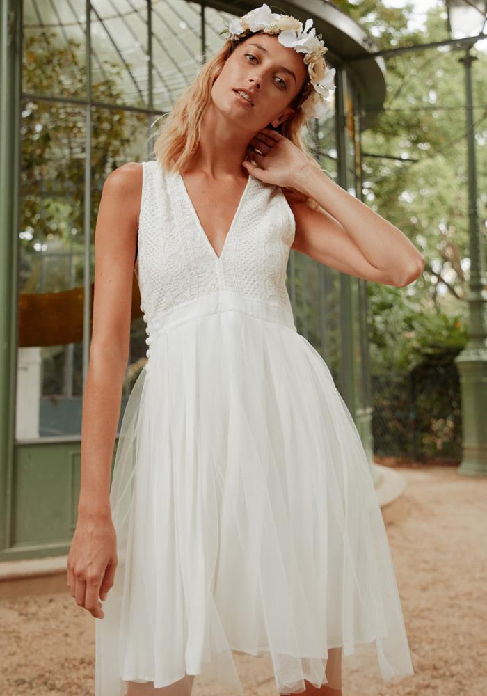 bcce2dd008338 CLEA - Robe courte tutu ballerine - Robe de mariée créateur et sur ...