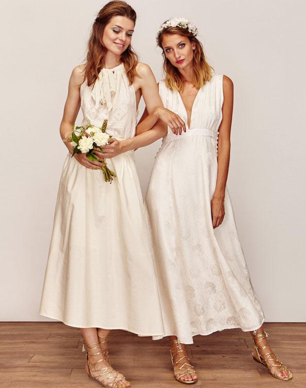 Robe longue de mariage civil chic