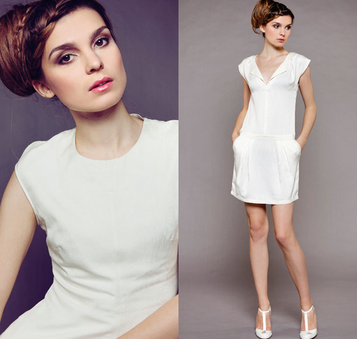 Myphilosophy Créations collection de robe de mariage civil simple