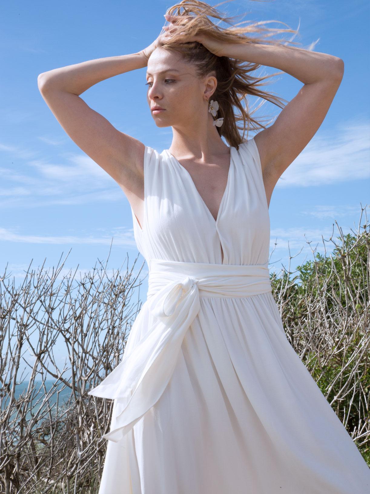 Robe de mariée civile longue ecoresponsable et vegan - creatrice de robes de marée à Paris - Myphilosophy
