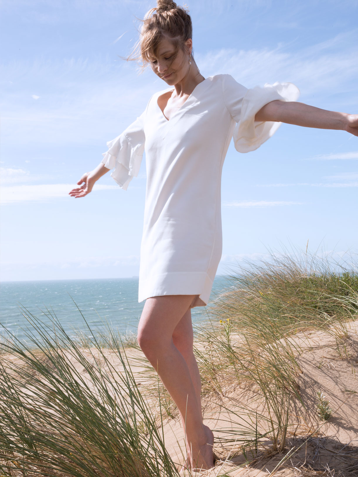 Robe de mariage civil courte et écoresponsable - Créatrice de robes de mariée vegan à Paris - Myphilosophy