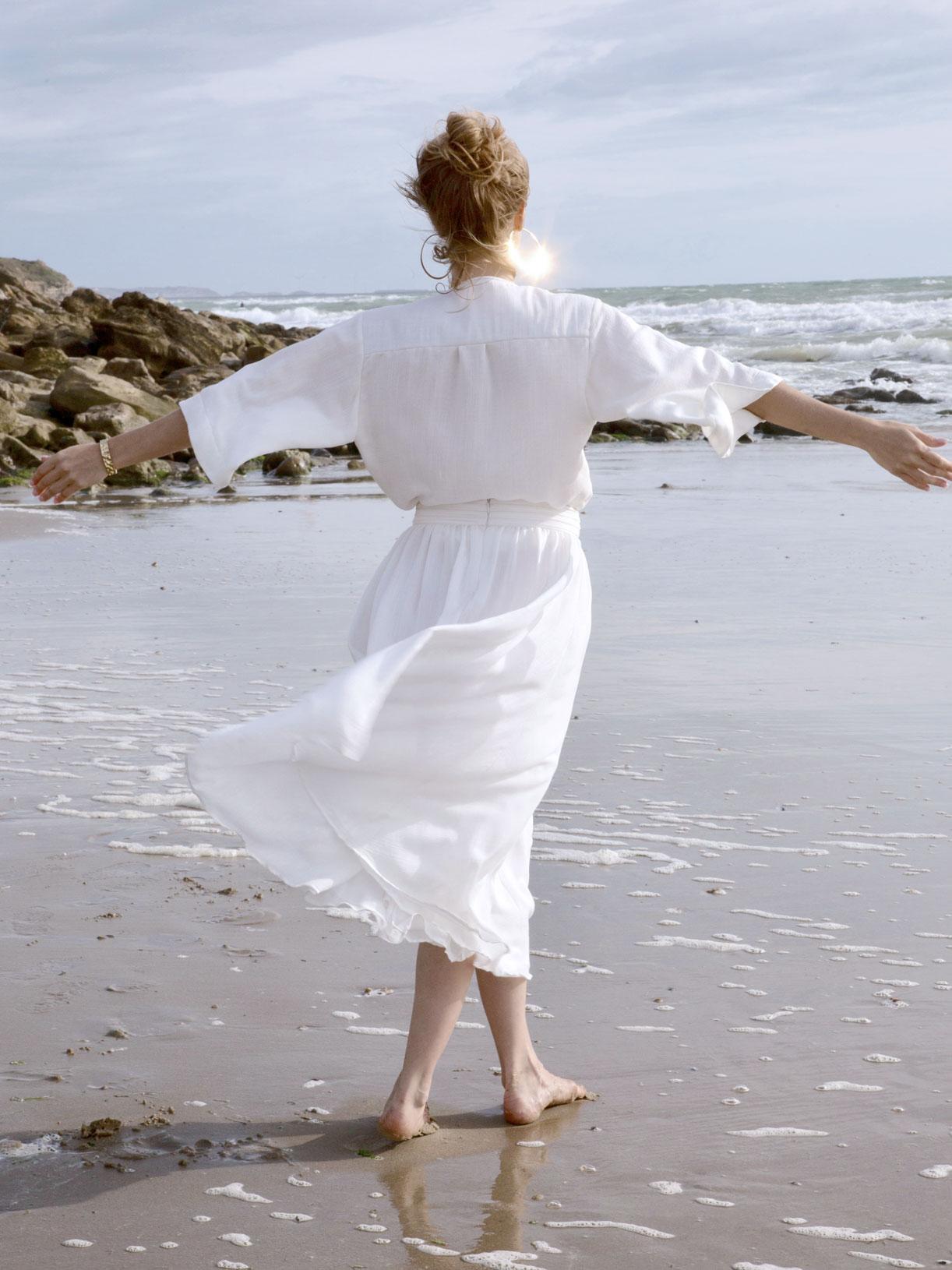 Kimono pour mariage civil écoresponsable et vegan - Myphilosophy Paris