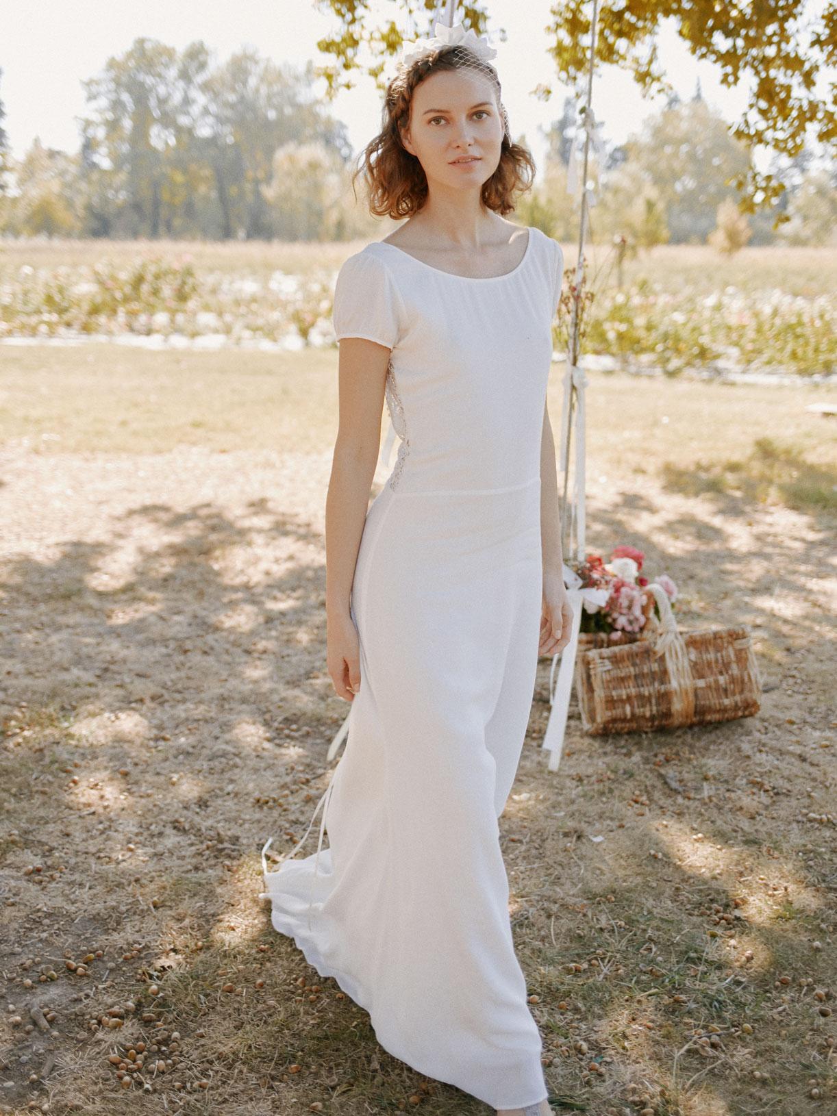 Robe sirène pour mariage civil dos-nu en dentelle - Myphilosophy