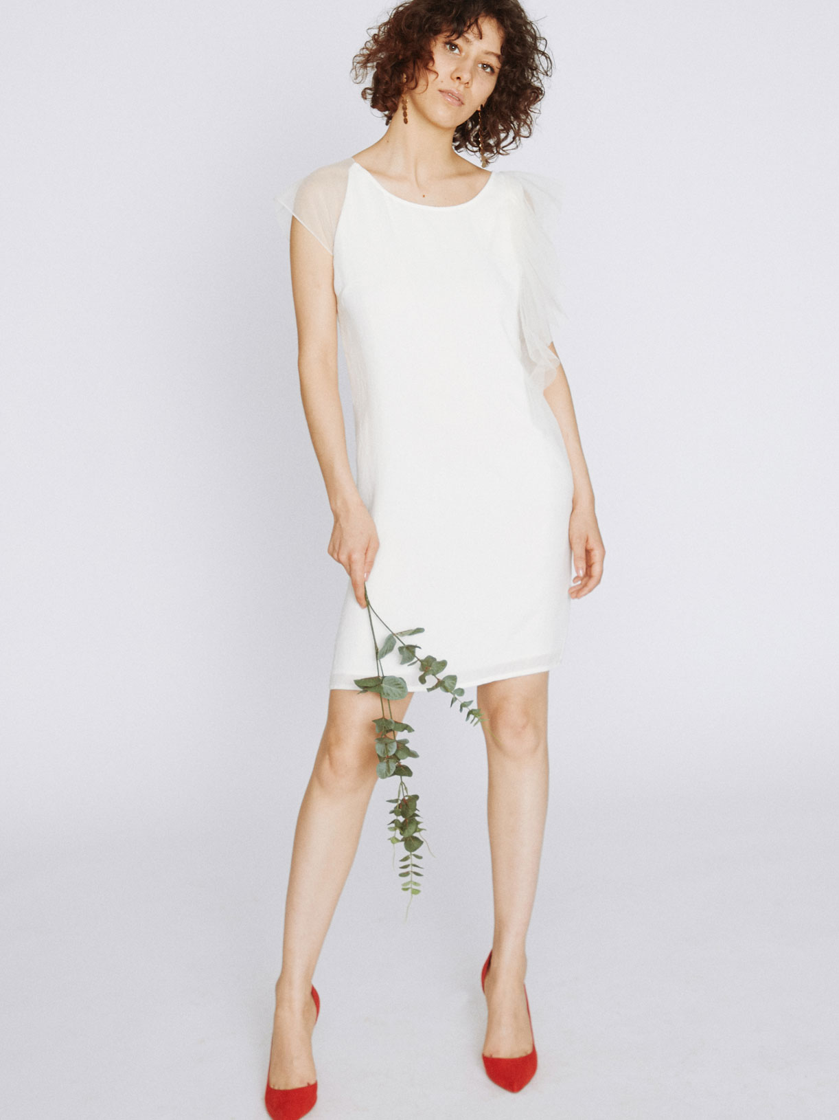 Robe pour mariage civil courte simple écoresponsable - Creatrice de robe de mariée éthique et bio a Paris - Myphilosophy