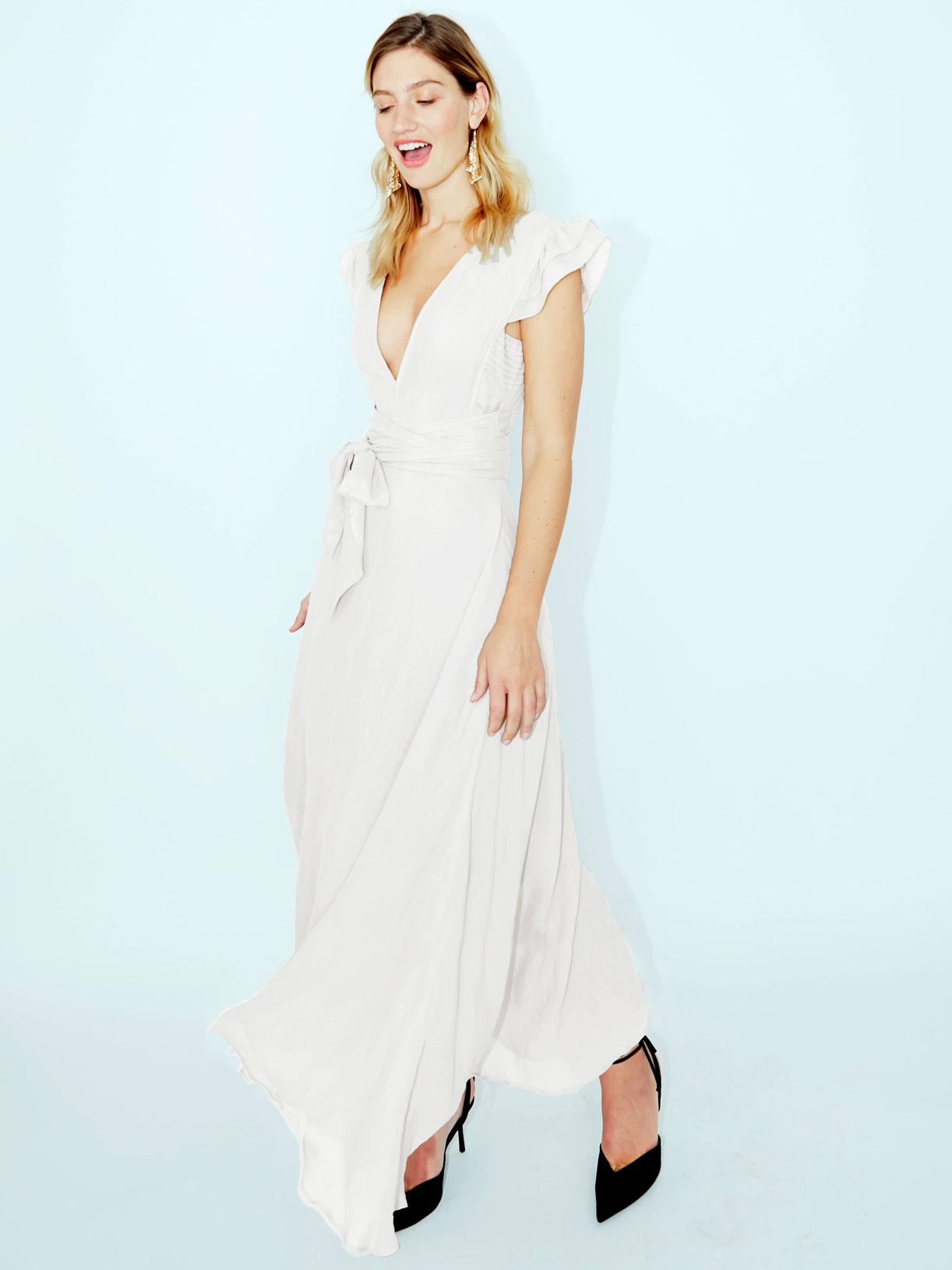 Robe pour mariage civil longue boheme en lin bio ecoresponsable - Myphilosophy