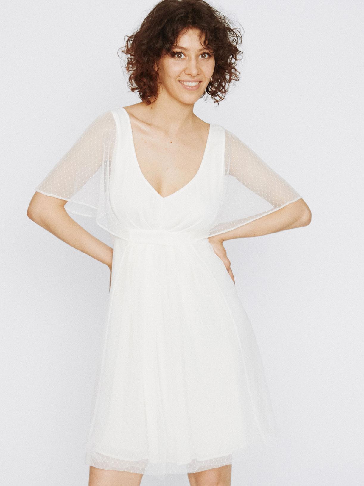 Robe mariee boheme pour mariage écoresponsable - Creatrice de robe de mariée éthique et bio a Paris - Myphilosophy civil