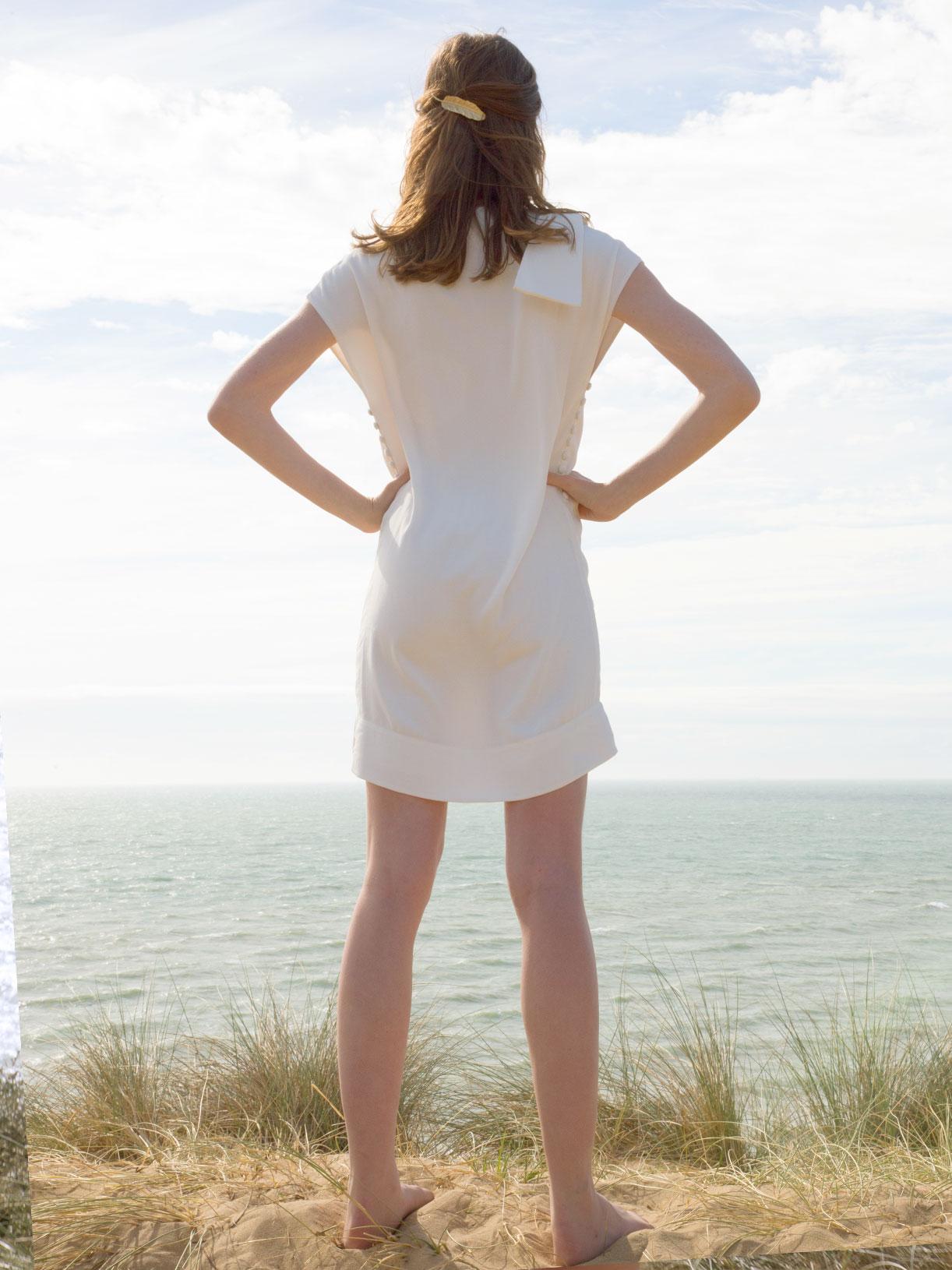 Robe de mariée civile courte écoresponsable et vegan - Creatrice de mariée Myphilosophy