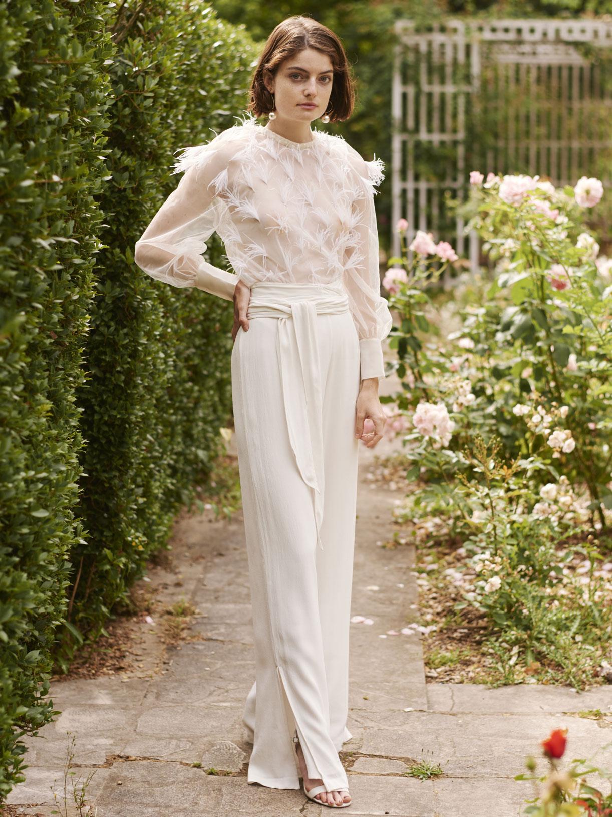 pantalon tailleur de mariée large écoresponsable - Creatrice de robe de mariée éthique et bio a Paris - Myphilosophy