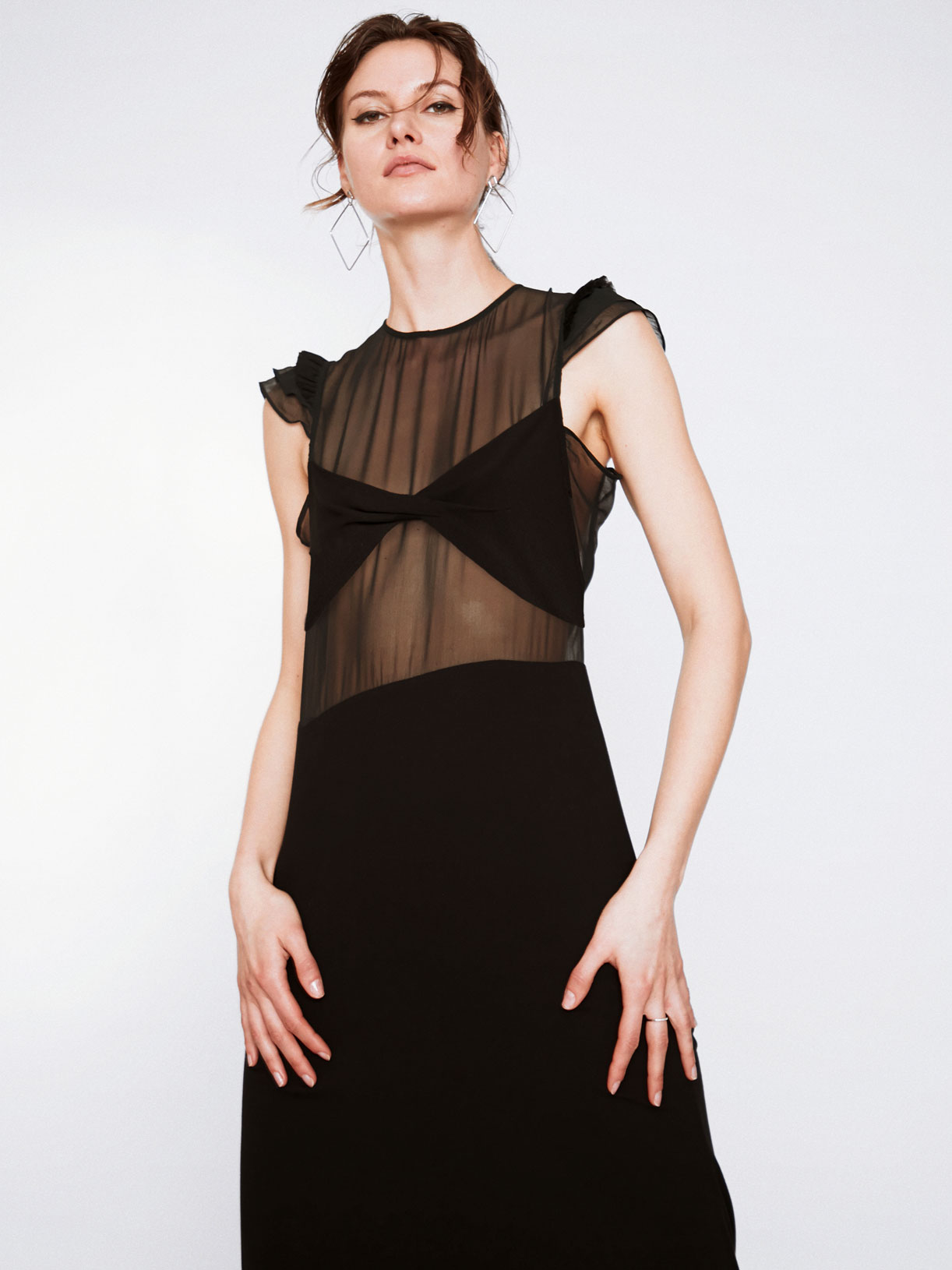 Robe de soirée sirène transparente noir créateur écoresponsable - Myphilosophy