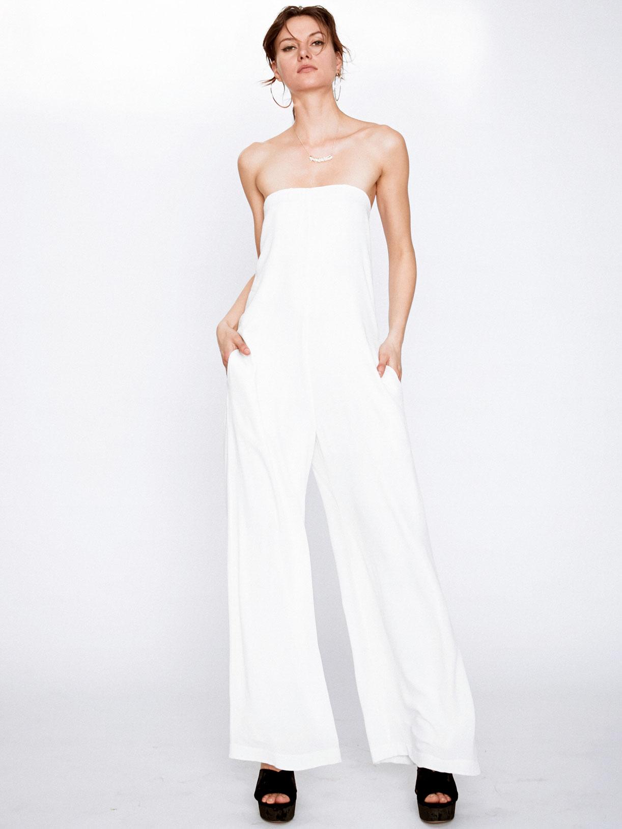 Combinaison large blanche écoresponsable - Creatrice de mode éthique et bio a Paris - Myphilosophy