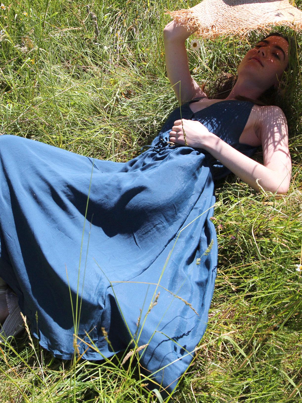 Robe upcyclee Alba - Bleu