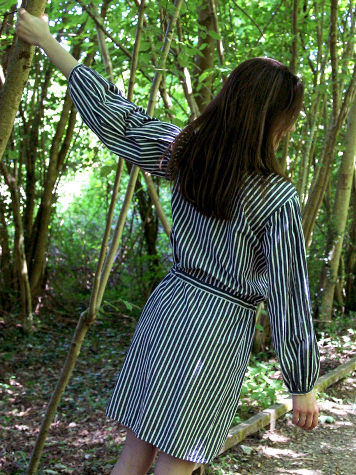 Robe chemise en coton bio rayé - Myphilosophy