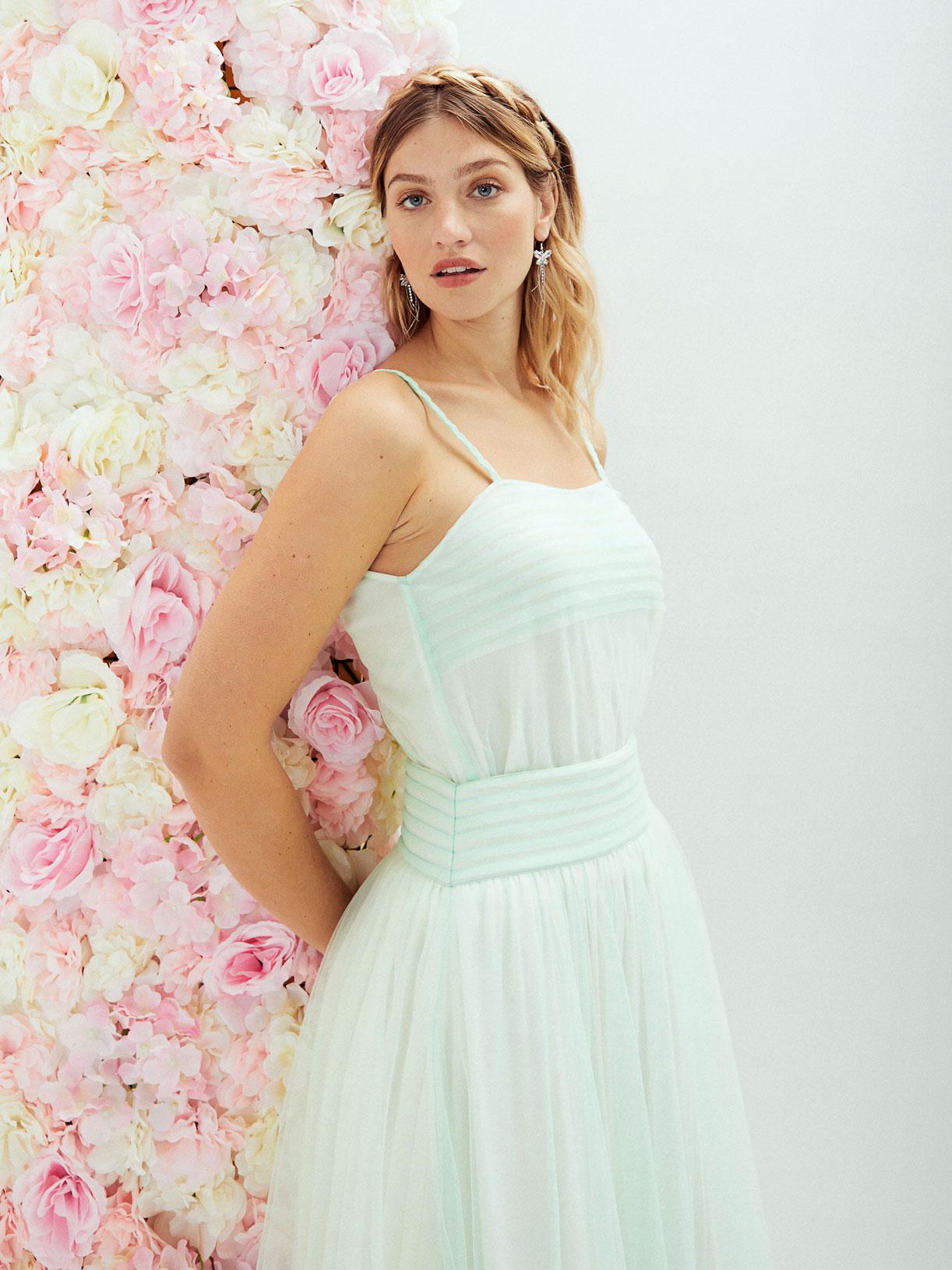 Robe de mariee coloree boheme princesse ecoresponsable - Creatrice de robe de mariée éthique et écoresponsable a Paris - Myphilosophy