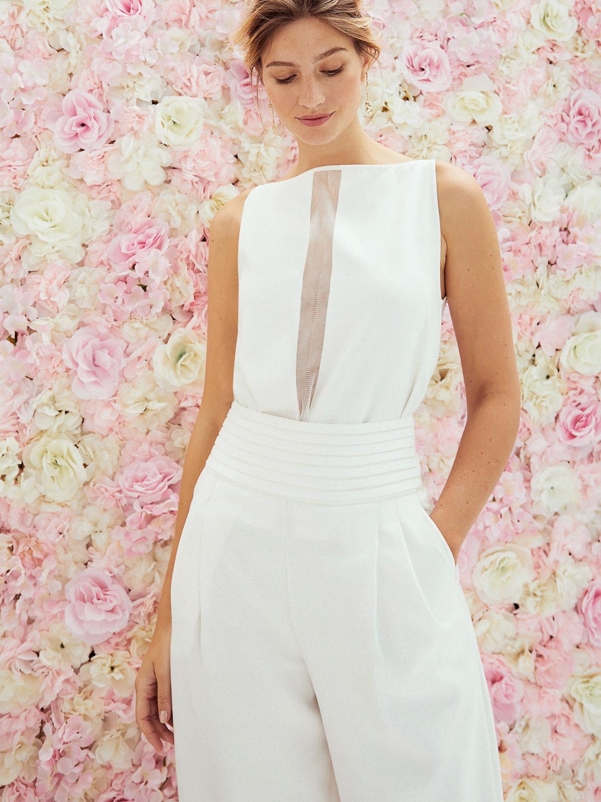 Pantalon tailleur large de mariee ecoresponsable et sur mesure - Creatrice de robe de mariée éthique et écoresponsable a Paris - Myphilosophy
