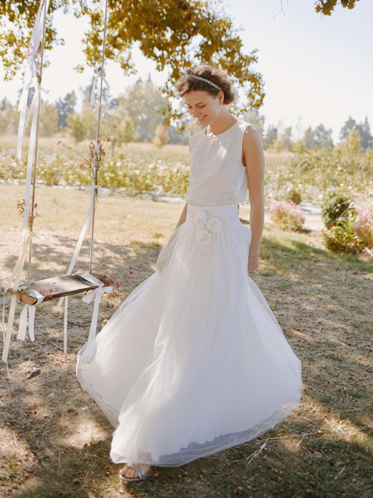 Robe de mariee princesse tulle ecoresponsable - Creatrice mariee Paris - Myphilosophy
