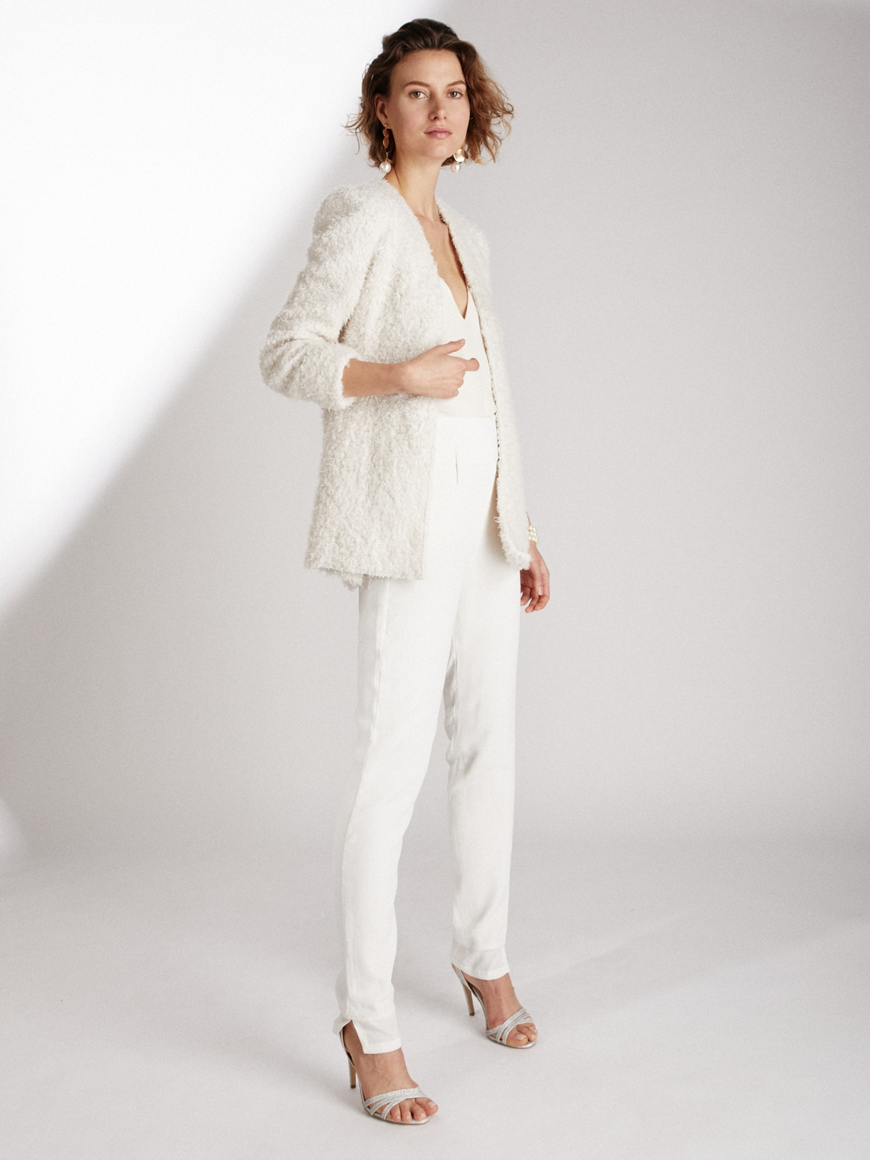 Pantalon cigarette de mariée vegan et écoresponsable - Creatrice de robe de mariée éthique et bio a Paris - Myphilosophy