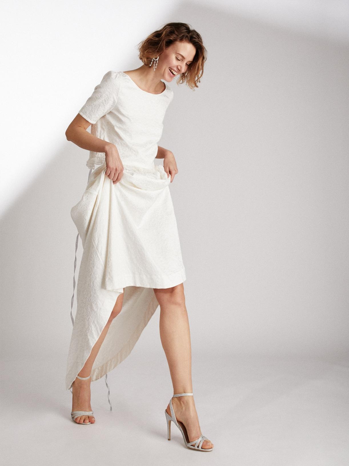 Jupe de mariée romantique vegan écoresponsable - Creatrice de robe de mariée éthique et bio a Paris - Myphilosophy