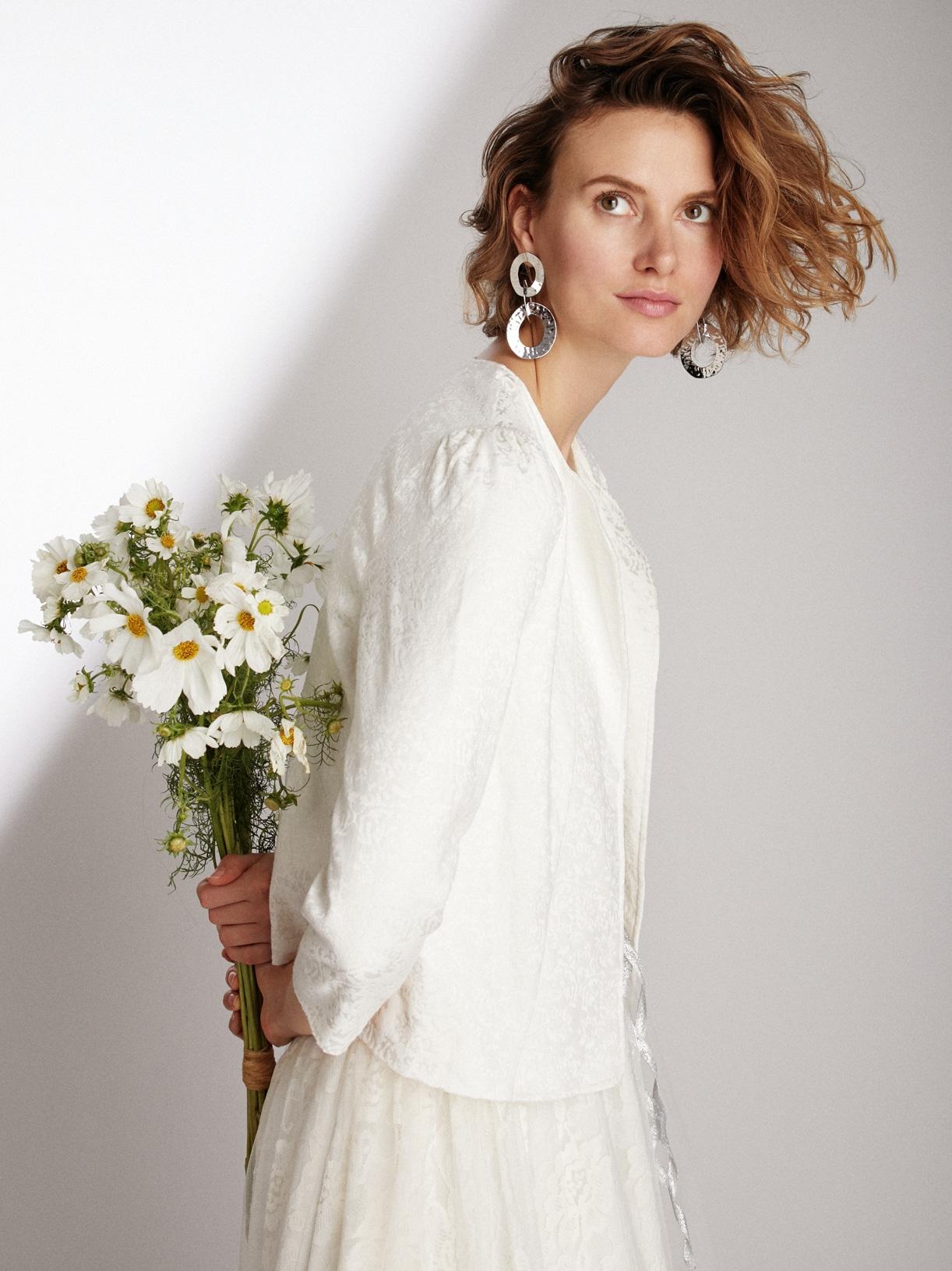 Veste de mariée courte vegan écoresponsable - Creatrice de robe de mariée éthique et bio a Paris - Myphilosophy