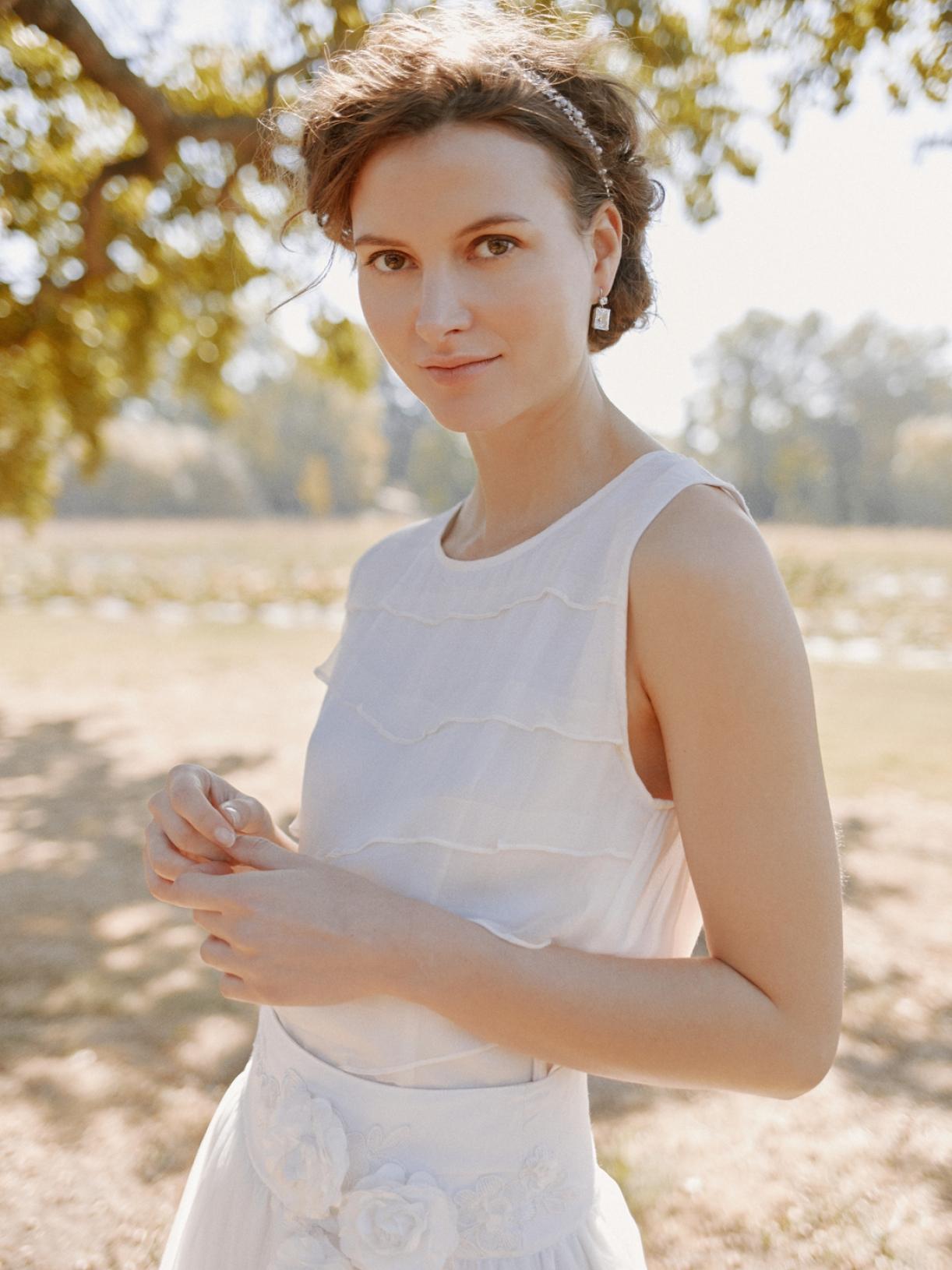 Faustine - Blouse de mariée a volant écoresponsable - Myphilosophy