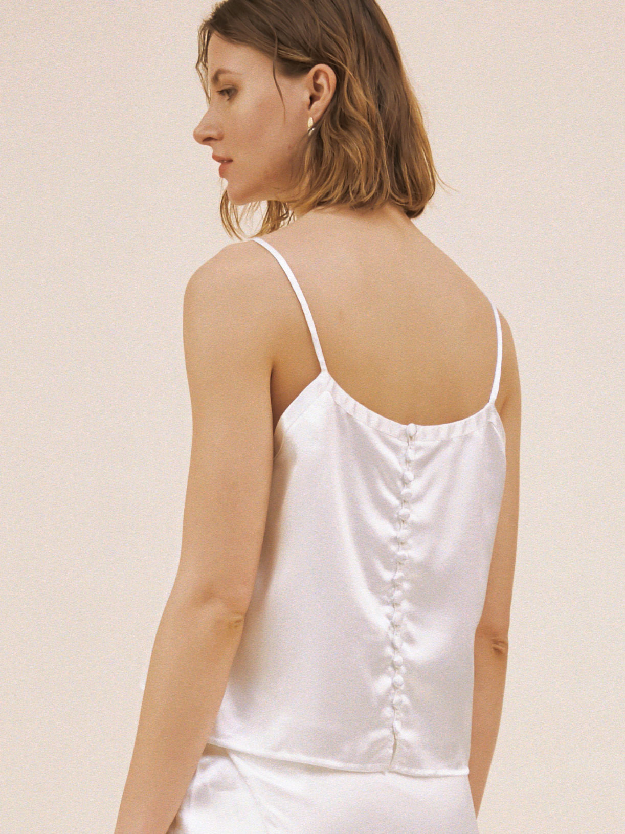 Top de mariée a bretelles fines écoresponsable - Creatrice de robe de mariée éthique et bio a Paris - Myphilosophy
