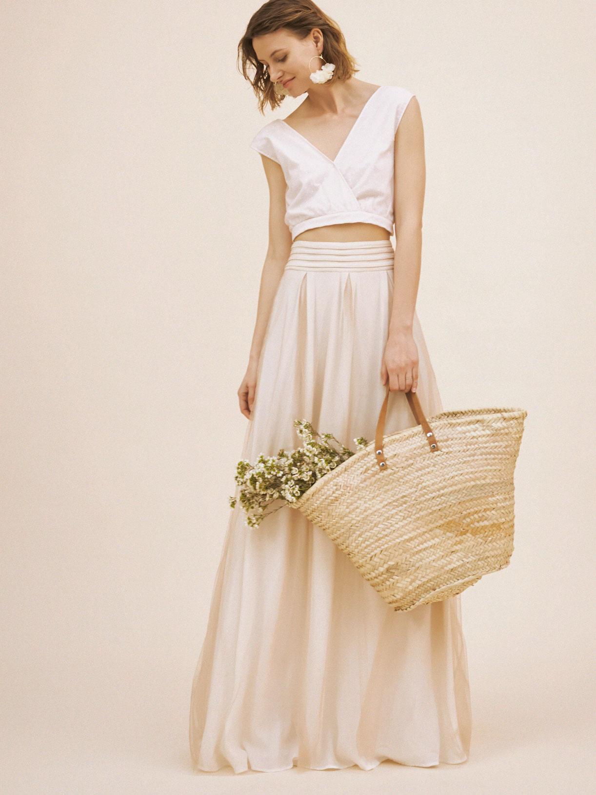 Jupe de mariée ample boheme et écoresponsable - Creatrice de robe de mariée éthique et bio a Paris - Myphilosophy