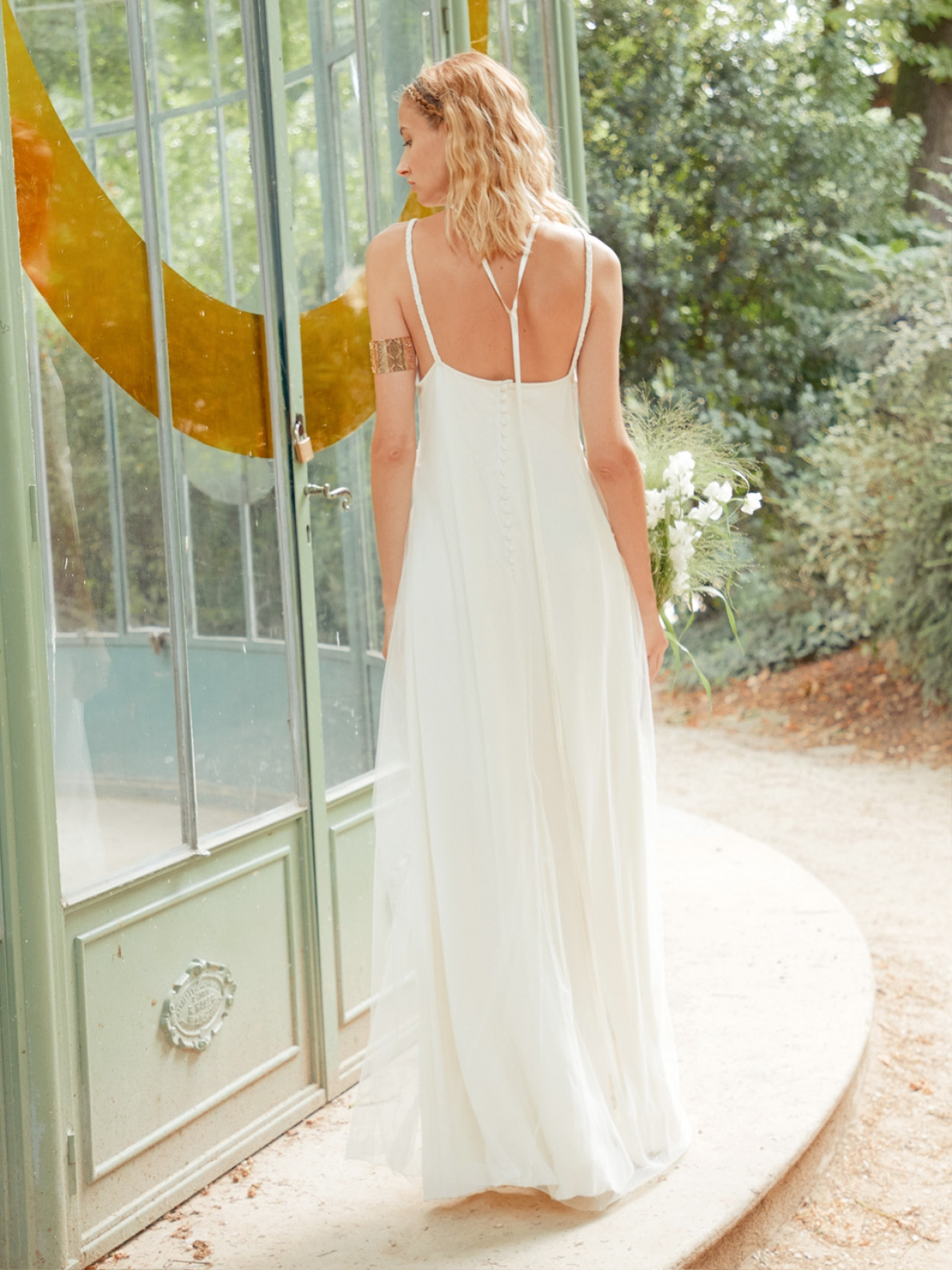 KATY - Robe de mariée bohème a bretelles fines - Robe de mariée créateur et sur-mesure pas cher a Paris - Myphilosophy