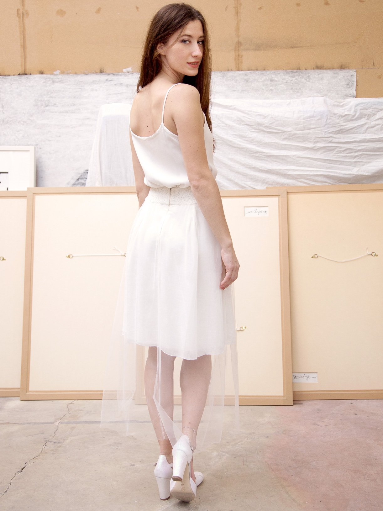 Hortense - jupe pour mariage civil en tulle transparente ethique et bio Myphilosophy