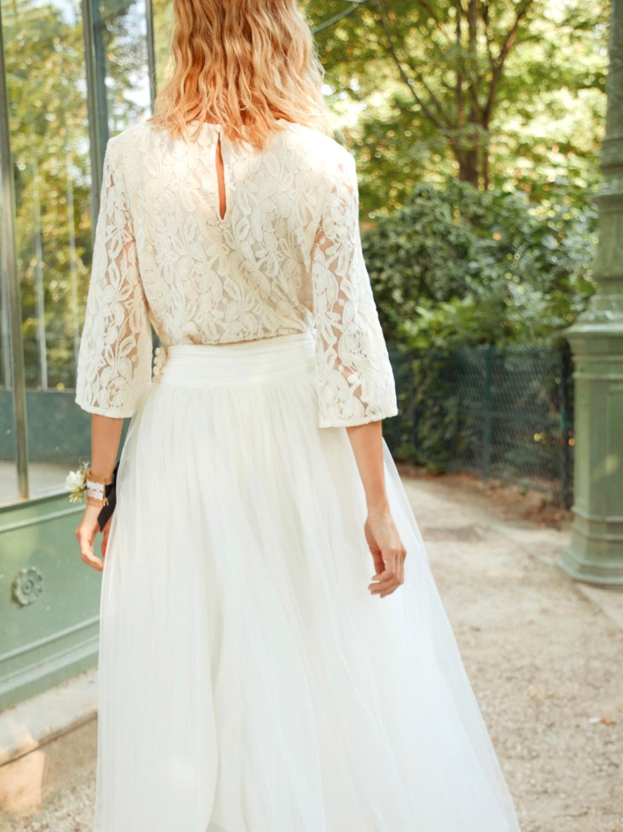 ROSE - Robe de mariée longue jupon de ballerine en tulle créateur et sur-mesure pas cher a Paris - Myphilosophy