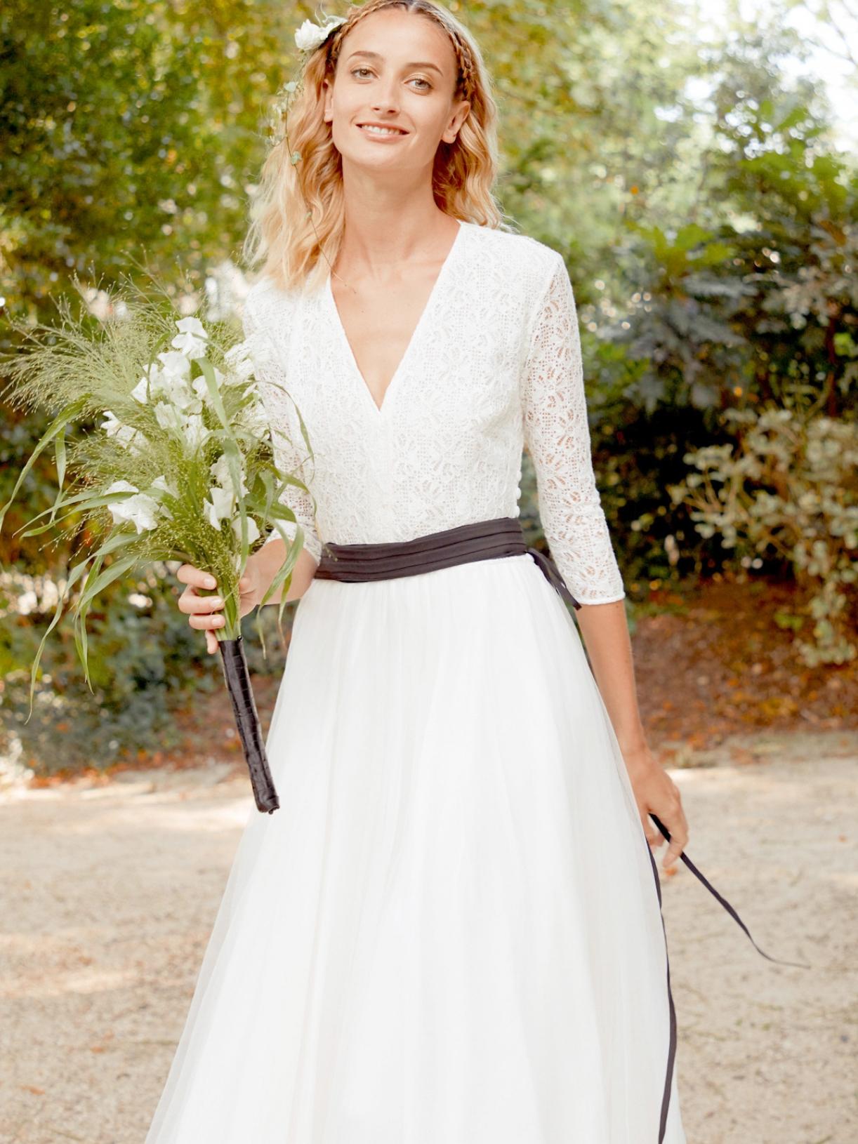 Margaux robe longue effet tutu ballerine  - Robe de mariée créateur et sur-mesure pas cher a Paris - Myphilosophy