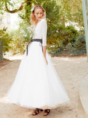 d7cff26cdd1a7 Margaux robe longue effet tutu ballerine - Robe de mariée créateur et sur-mesure  pas cher a Paris - Myphilosophy