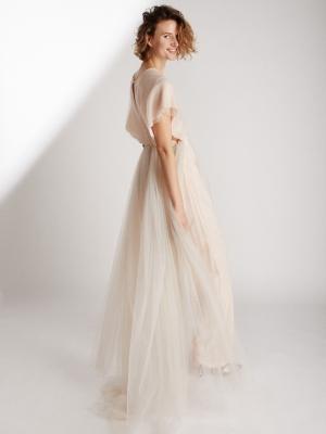 9a3ed1f9f4b Combinaison pantalon avec traine de mariée éthique et sur-mesure RAINBOW