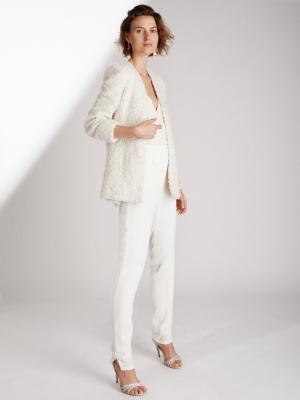 ed9bcbe89e0 LEIANA - Pantalon tailleur de mariée cigarette taille haute éthique et  sur-mesure - Myphilosophy