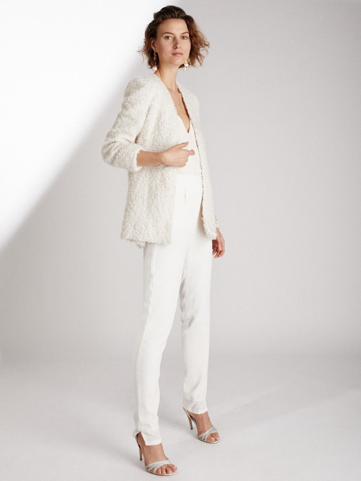 LEIANA - Pantalon tailleur de mariée cigarette taille haute éthique et sur-mesure - Myphilosophy