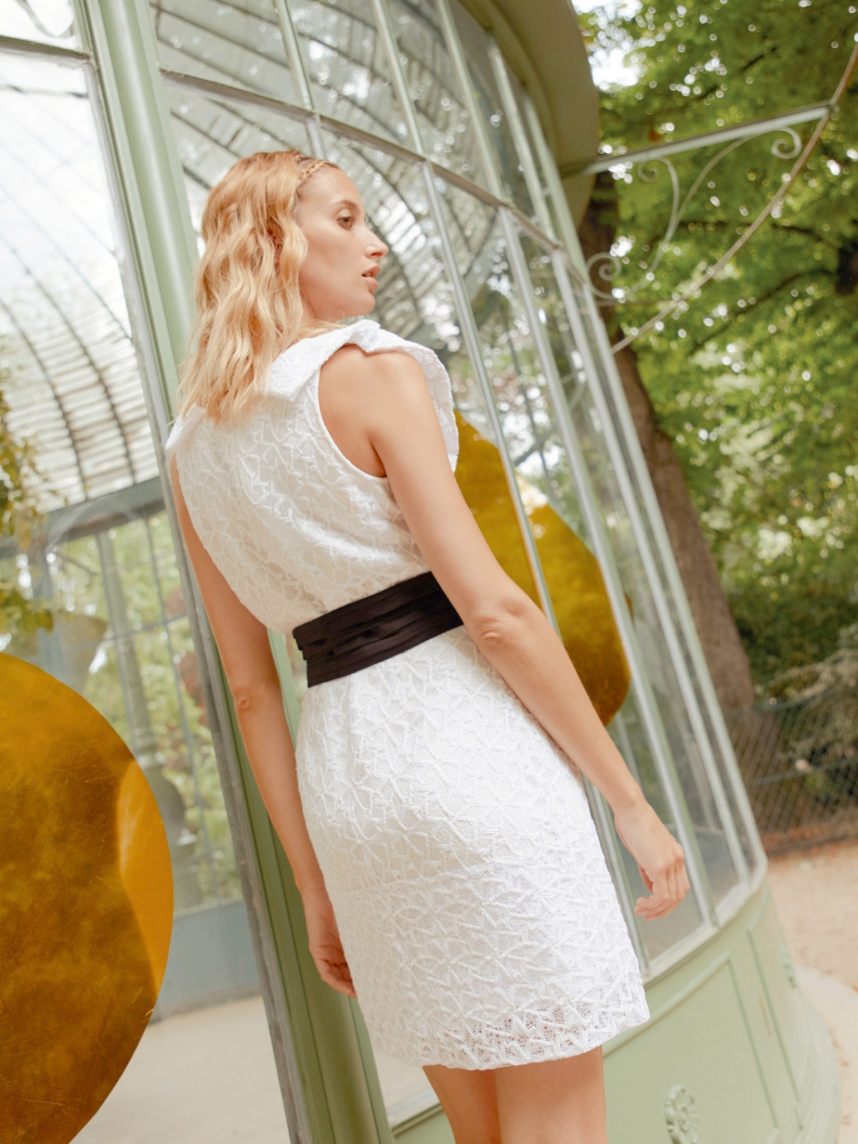 JULIETTE - Robe de mariée courte à volant dentelle - Robe de mariée créateur et sur-mesure pas cher a Paris - Myphilosophy