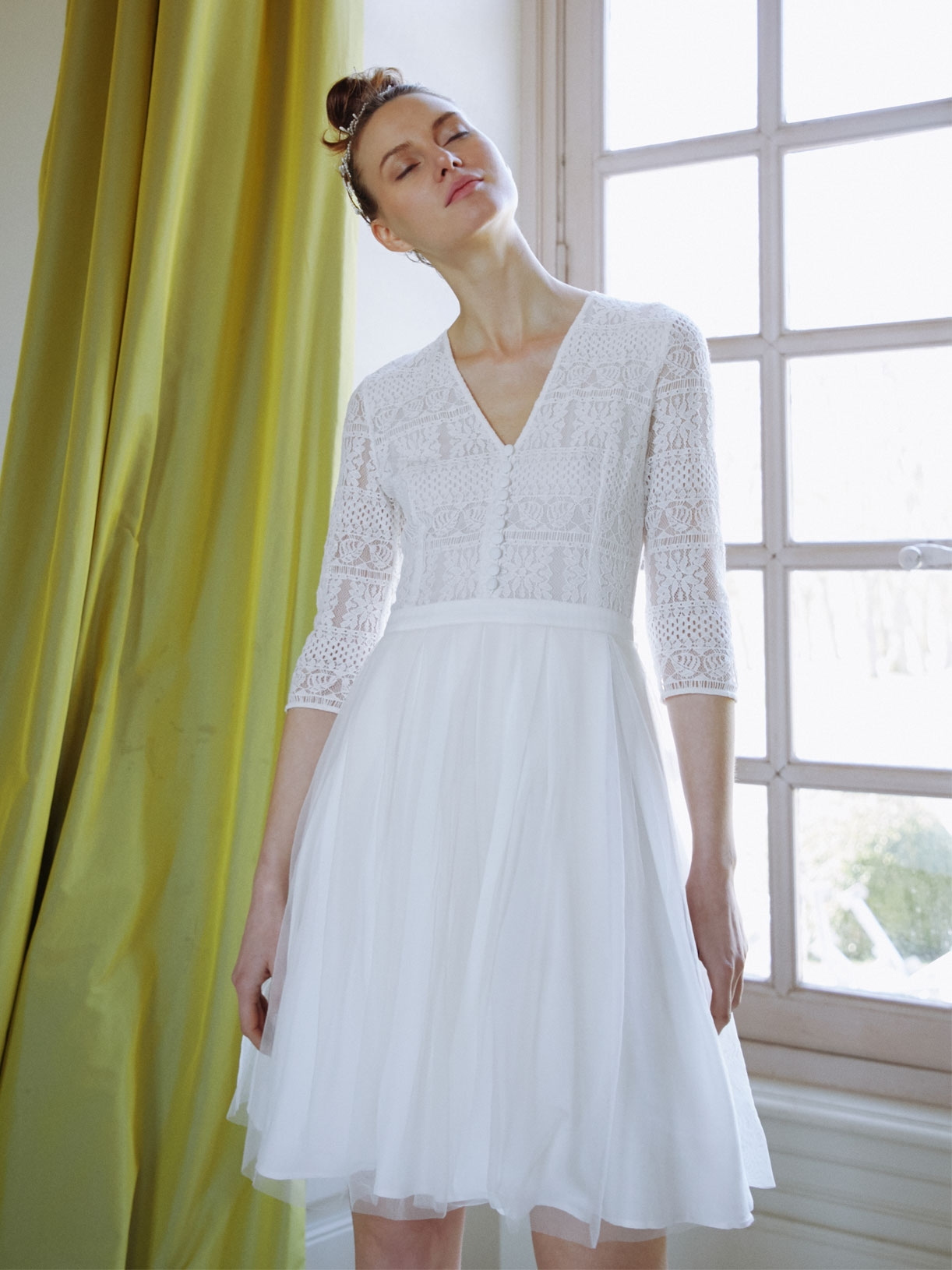 Robe mariage civil tulle