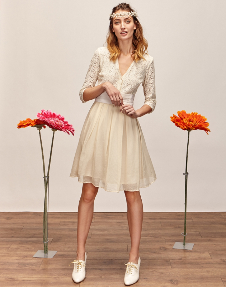 MARGOT - Robe de mariée courte créateur et sur-mesure pas cher a Paris - Myphilosophy