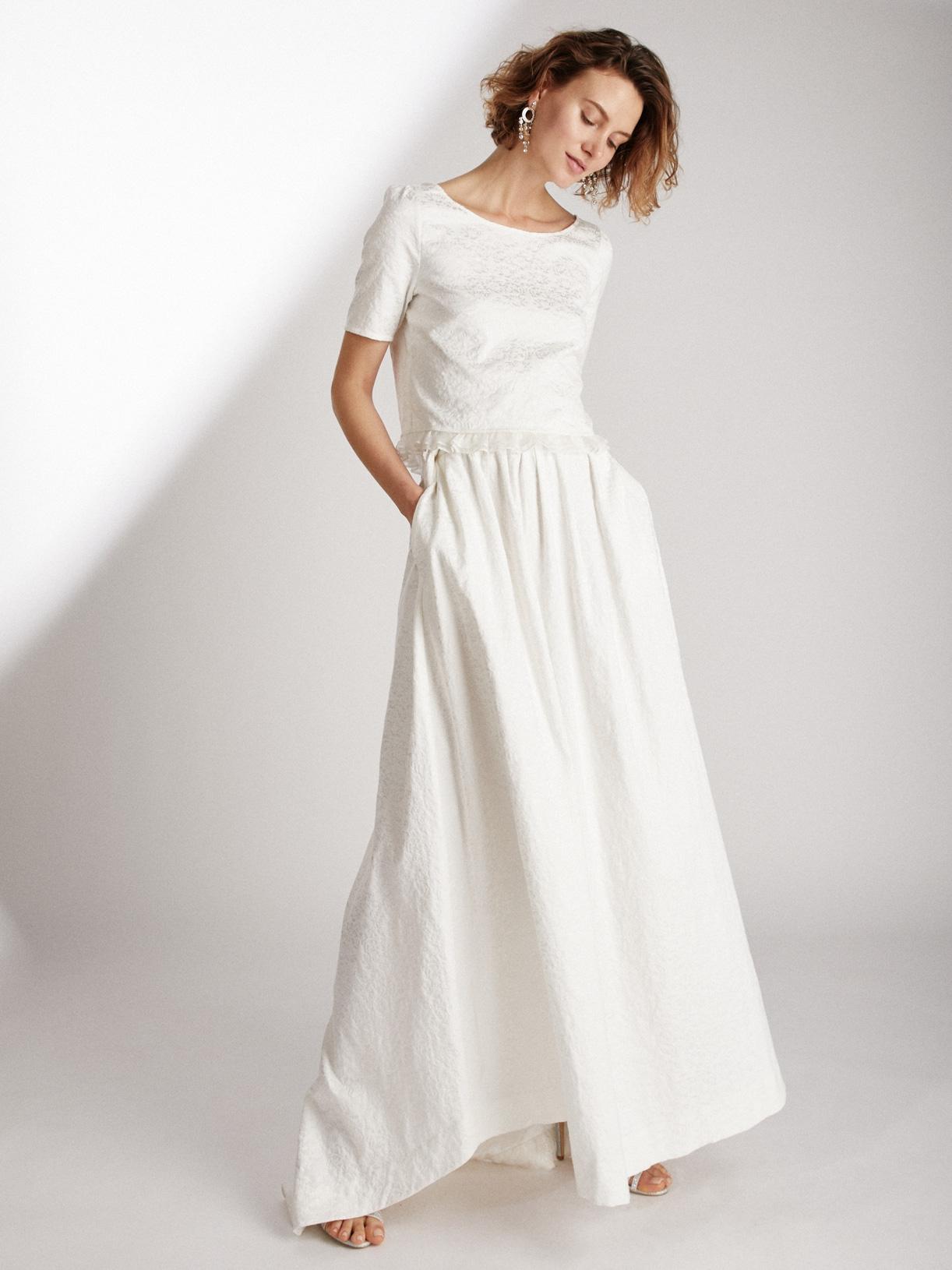PEACE - Jupe de mariée longue ample et romantique en jacquard - Myphilosophy