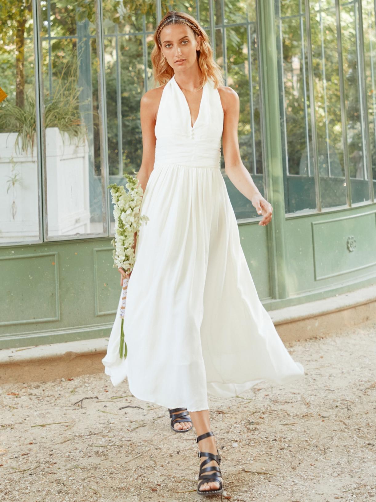 Marilyn - Robe de mariée longue décolleté marilyn monroe style année 50 créateur et sur-mesure pas cher a Paris - Myphilosophy