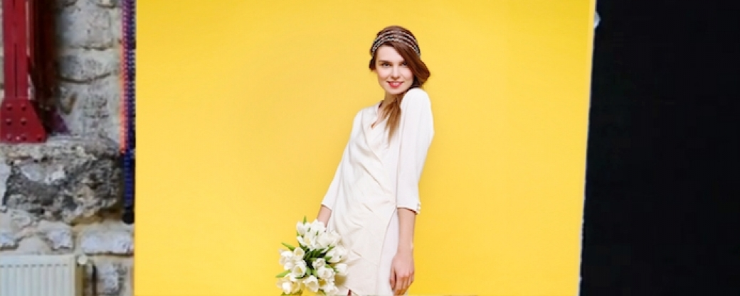 Myphilosophy robe mariage civil simple blanche