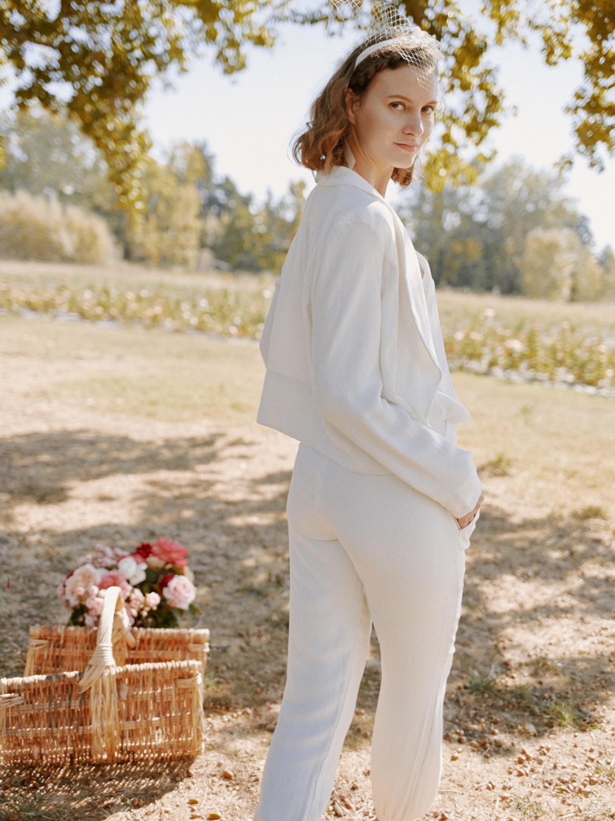 DAISY - Pantalon tailleur de Mariée