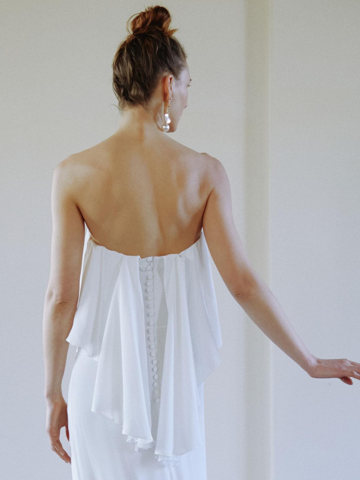 AMBRE - Robe de mariée longue sirène bustier - Créatrice de robes de mariée sur-mesure éthique et bio sur Paris - Myphilosophy