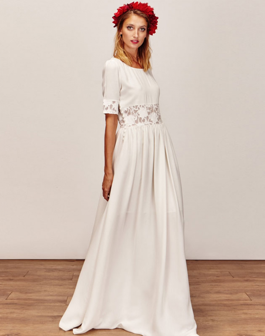 ANAÏS - Robe de mariée courte créateur et sur-mesure pas cher a Paris - Myphilosophy