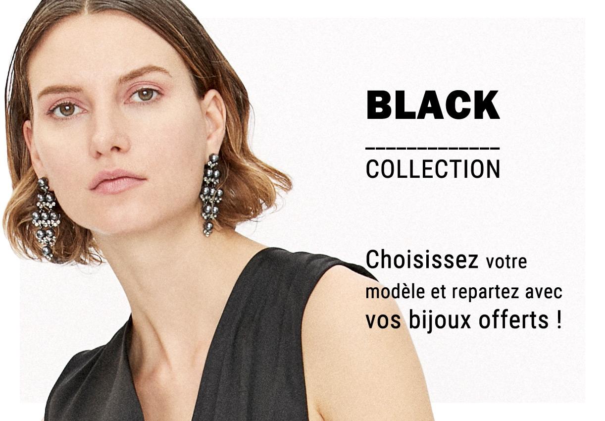 BLACK Collection : Vos boucles d'oreilles offertes pour les fêtes !