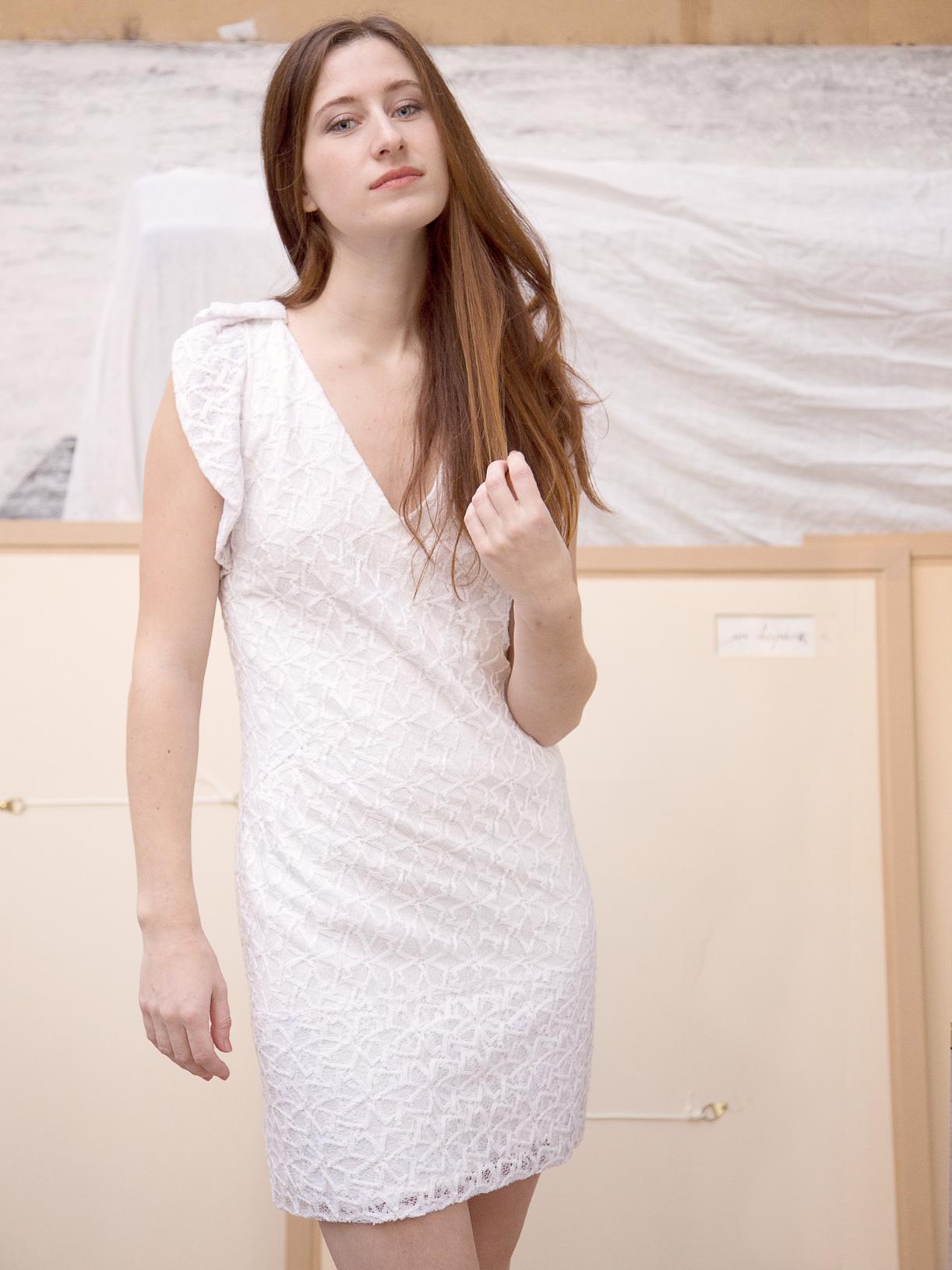 JULIETTE - Robe pour mariage civil courte en dentelle ethique et bio - Myphilosophy