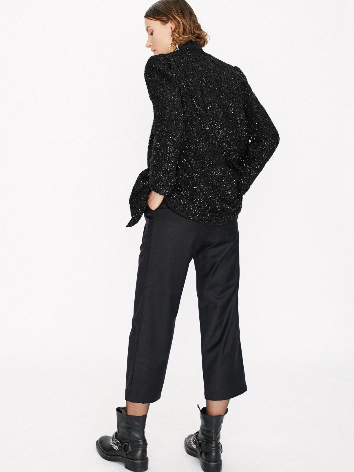 Pantalon court noir en laine éthique et sur-mesure Jules - Myphilosophy